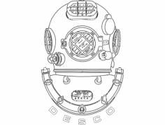 Dive Helmet dxf File