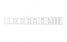 Les Paul Fingerboard dxf File