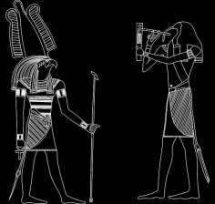 Ancient Egyptian Gods and Goddess dxf File