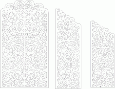 Wedding Screen Panel Free Vector