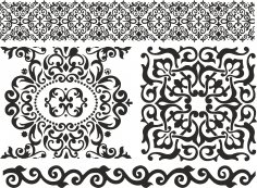 Ornament Baroc Elements Free Vector