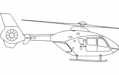 Helicopter Silhouette dxf file