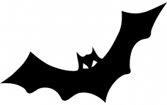 Bat Horror dxf File