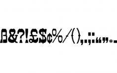 Letter Symbols dxf File