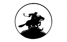Pony express Wheel dxf File