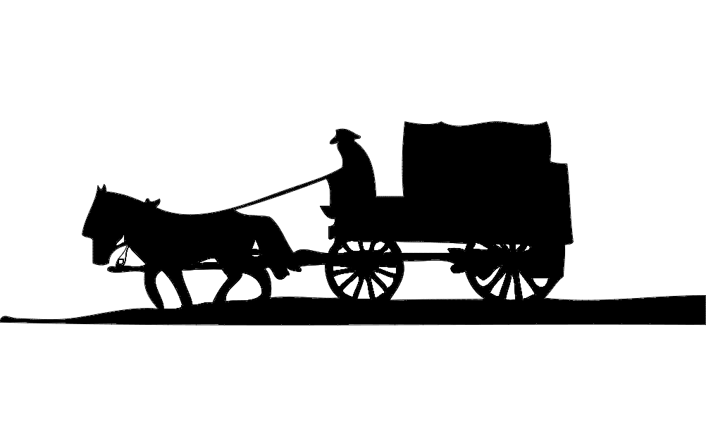 Horse And Buggy dxf File