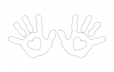 Hands Heart dxf File