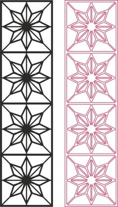 Star Pattern Vector dxf File