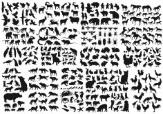 Animals Collection Vector Silhouette CDR File
