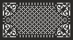 Decorative grill pattern dxf File