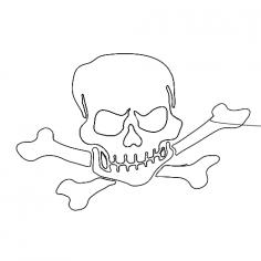 Skull dxf File
