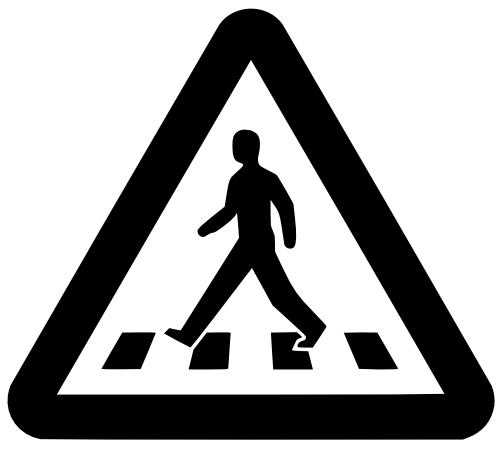 Pedestrian Crossing Sign dxf File