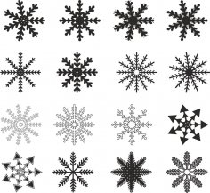 Snowflakes Vector Free Vector