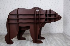 Laser Cut Animal Shelf Bear Shelf Kids Room Furniture Free Vector