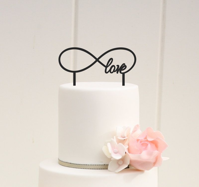 Laser Cut Infinity Love Cake Topper Wedding Cake Topper Template Free Vector
