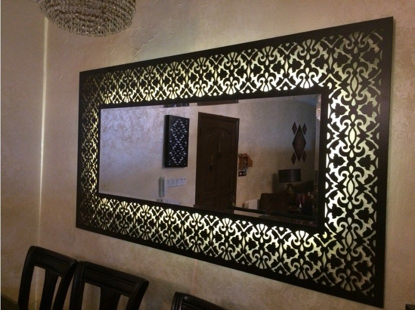 Decorative Mirror Frame Laser Cut Template Free Vector