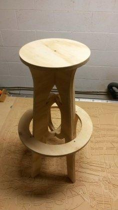 Backless Bar Stool DXF File