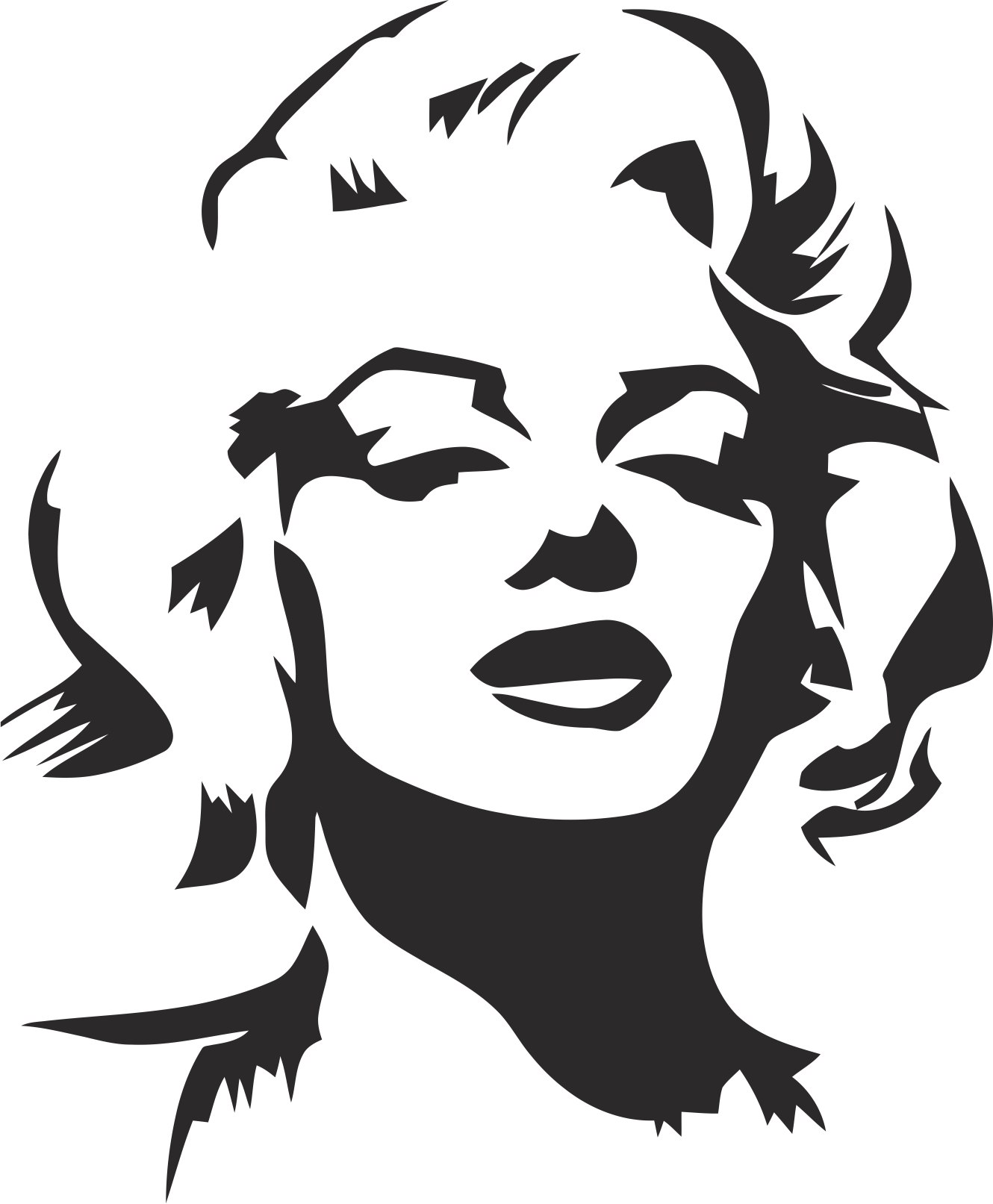 Marilyn Monroe Stencil Free Vector