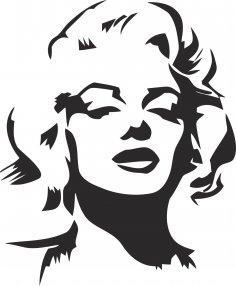 Marilyn Monroe Stencil EPS File