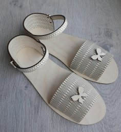Laser Cut Sandals Free Vector