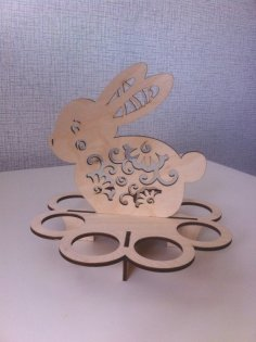 Laser Cut Easter Bunny Free Vector