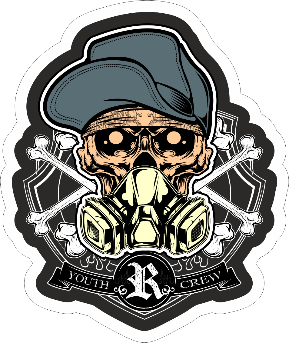 Skull Crew Sticker Free Vector