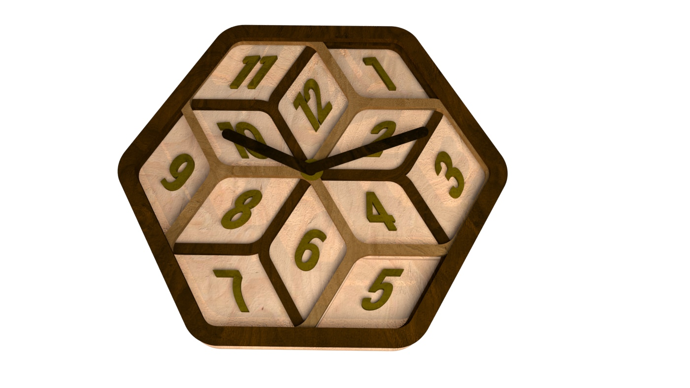 Laser Cut Modern Clock Free Vector
