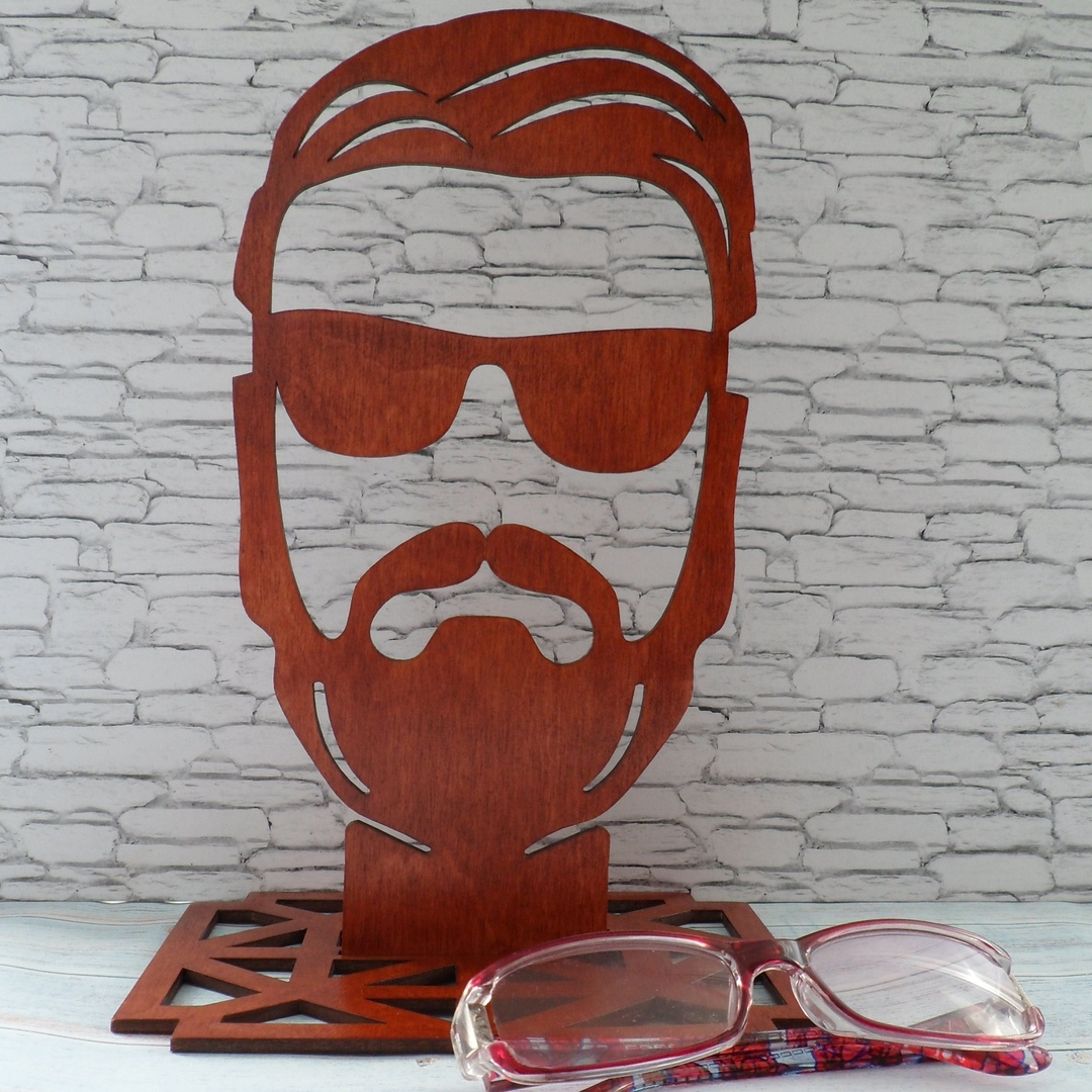 Laser Cut Sunglasses Display Stand Free Vector