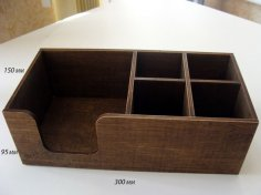 Laser Cut Napkin Holder 300x150x95 Plywood 4mm PDF File