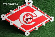 Laser Cut Spartak Clock Free Vector