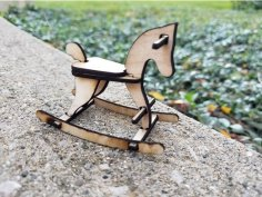Laser Cut Rocking Horse Template DXF File