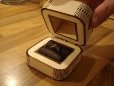Laser Cut Engagement Ring Box Template SVG File