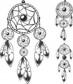 Dreamcatchers Vector Set Free Vector