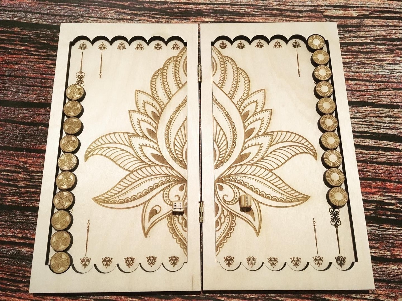 Laser Cut Backgammon Board Game Free Vector