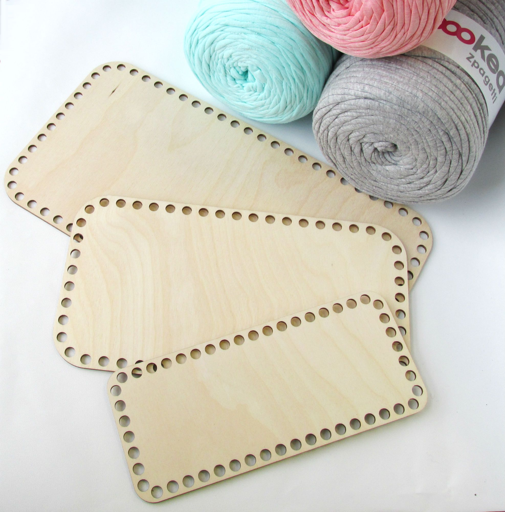 Laser Cut Wooden Bases For Crochet Baskets Free Vector