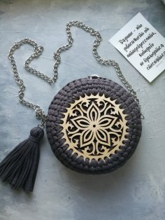 Laser Cut Wooden Bases For Crochet Baskets Free Vector