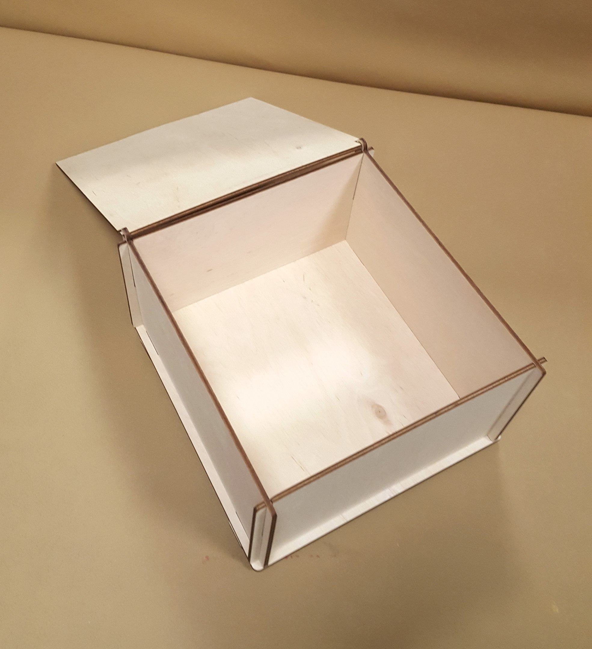 Laser Cut Wood Storage Box With Lid Free Vector