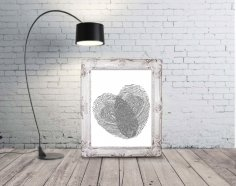 Laser Engraving Fingerprint Wall Art Free Vector