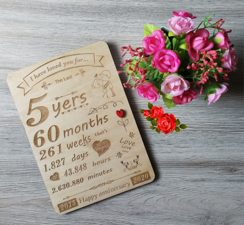 Laser Engraved Anniversary Wall Art Free Vector