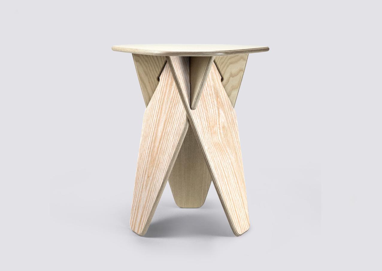 Laser Cut Modern Furniture Multi-purpose Stool Side Table Free Vector