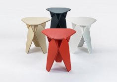 Laser Cut Modern Furniture Multi-purpose Stool Side Table Free Vector
