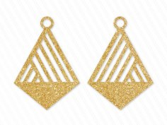 Laser Cut Geometric Cross Shaped Earring Design Free Vector