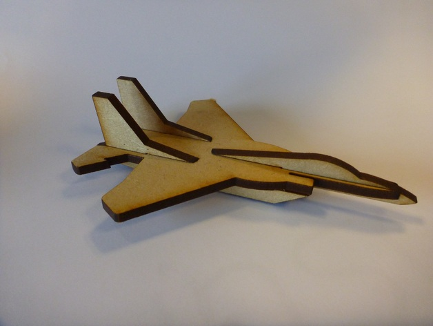 Laser Cut Mini F15 Fighter Aircraft Ascii DXF File