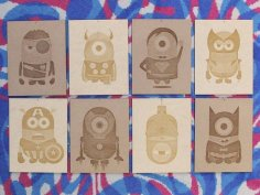 Minion Superhero Wood Posters Ai File