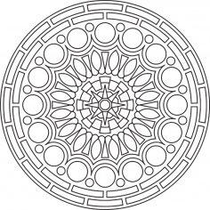 Mandala Des Round Free Vector