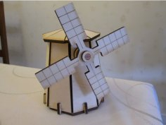 Laser Cut Windmill Template DXF File