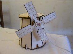 Laser Cut Windmill Template DXF File