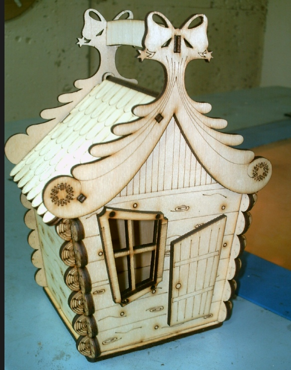 Laser Cut Candy House Christmas Decor Holiday Decor 4mm Plywood Free Vector