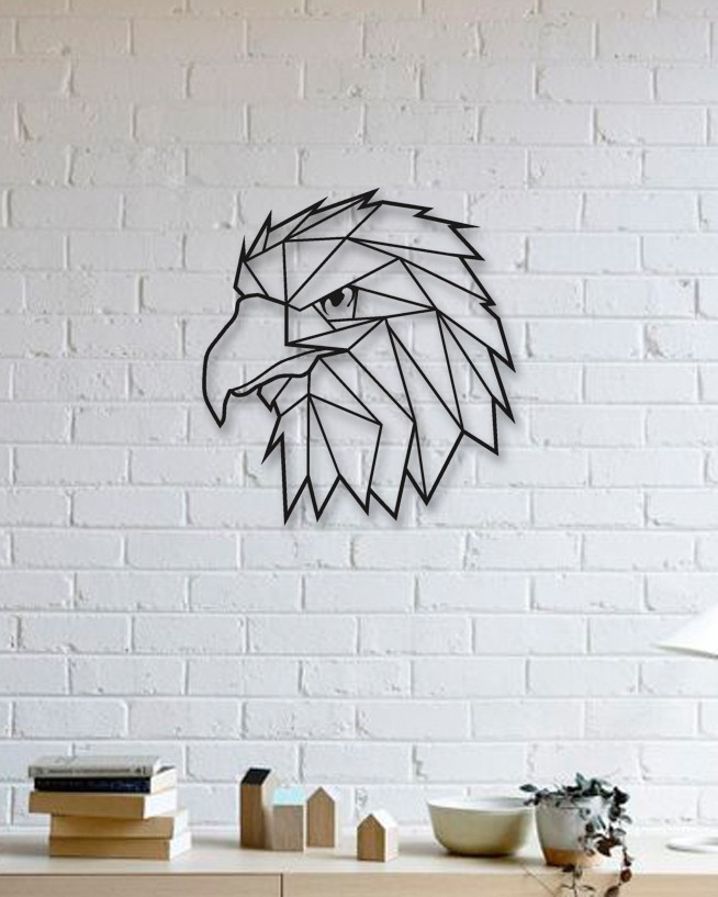 Laser Cut Geometric Eagle Wall Art Free Vector