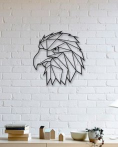 Laser Cut Geometric Eagle Wall Art Free Vector